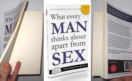 베스트셀러 '남자는 섹스 외에 무엇을 생각하는가?'내용은 모두 백지(…)