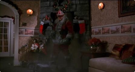 갑자기 굴뚝을 타고 난입한 산타.