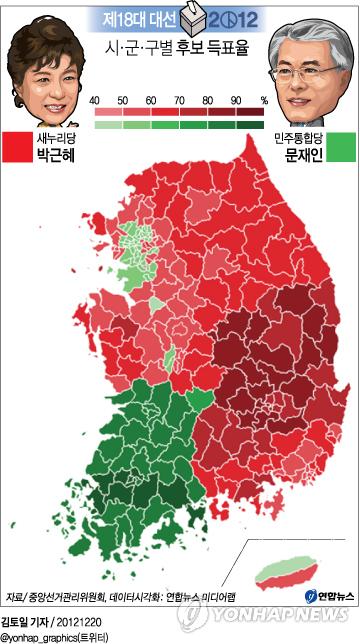 시군구별 득표율