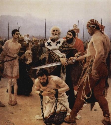 일리야 레핀作 사형수들을 구하는 성 니콜라우스. 야한 시스루 패션...!