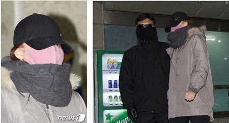 2012년 12월 15일 1차 소환 후 핑크빛 마스크 귀가