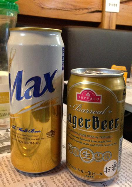 한국 맥주와 일본에 oem으로 수출하는 맥주