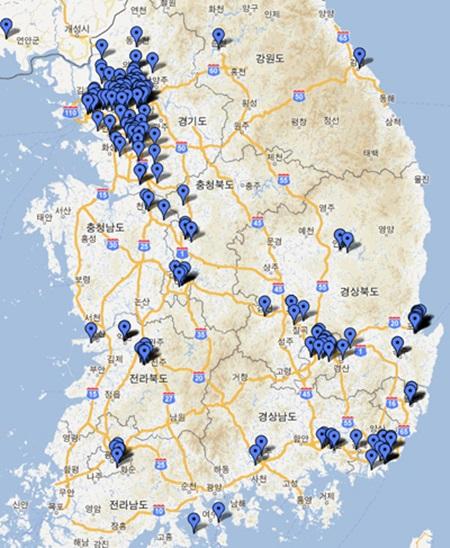 전국 아케이드 게임장 지도 구글맵 구글맵(http://maps.google.co.kr/maps/ms?ie=UTF8&oe=UTF8&msa=0&msid=215383486859694996670.00048ce79433ede30444a)