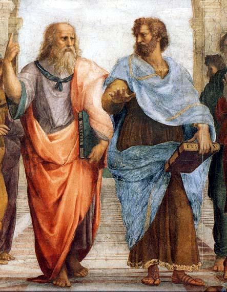 """플라톤 """"하여간 요즘 젊은 것들은..."""" 아리스토텔레스 """"정말이지, 개념이 없습니다."""""""