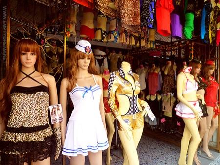 태국의 옷가게
