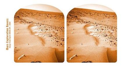 나사는 화성 표면을 3D로 촬영하였습니다.