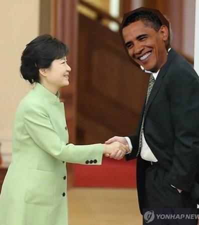 박근혜 오바마 합성