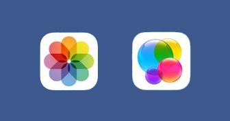 어느 쪽이 '사진' 앱 아이콘일까?