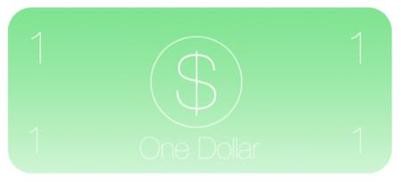 애플이 다시 디자인한 1달러