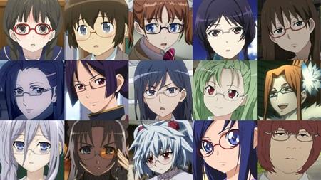 안경소녀만 해도 캐릭터가 넘쳐난다!