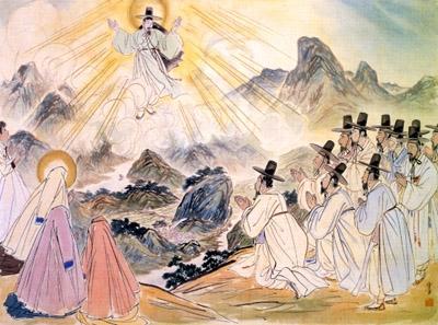 출처: (신천지)동양화로 보는 예수님의 생애-예수의 승천 편