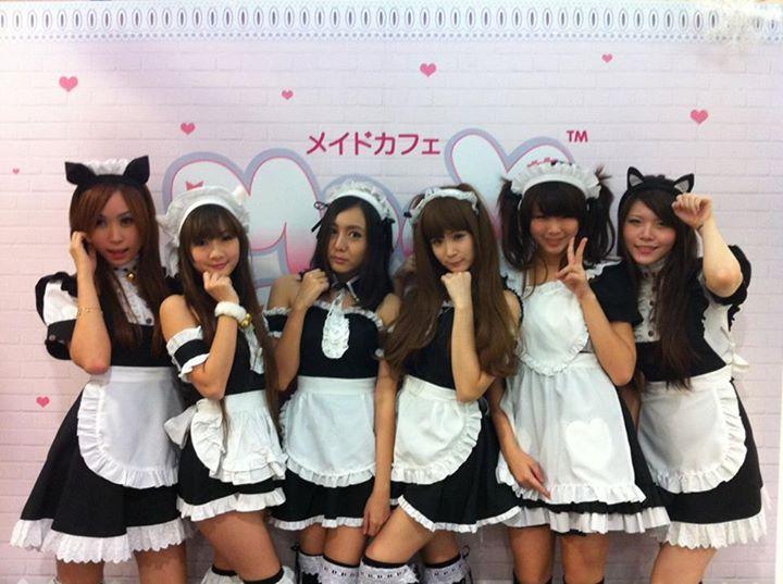 일본의 모 메이드카페의 점원들