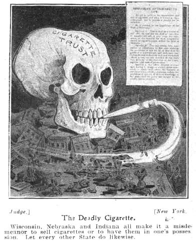 1905 년에 미국에서 제작된 담배 반대 광고 (public domain)