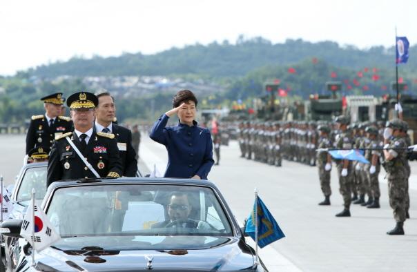 지난 10월 1일의 국군의날 기념행사