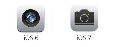 카메라 아이콘의 변화.