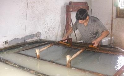 중국의 선지 제작과정