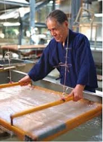 일본의 화지 제작과정