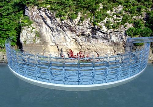 수위 변화에 따라 높이 조절이 가능한 카이네틱댐 이미지.