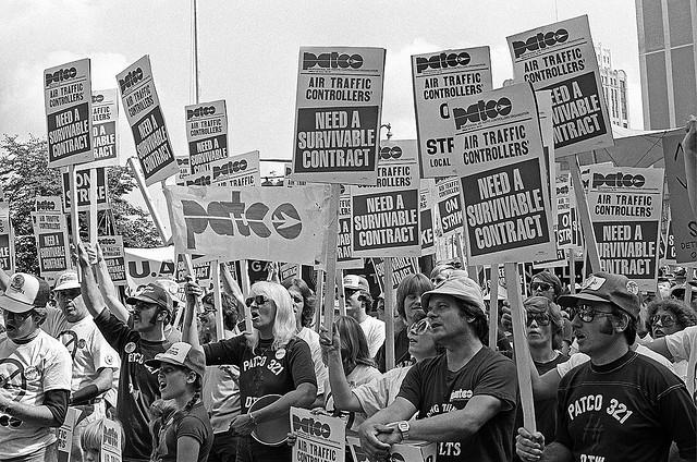 관제사 파업 당시의 모습.