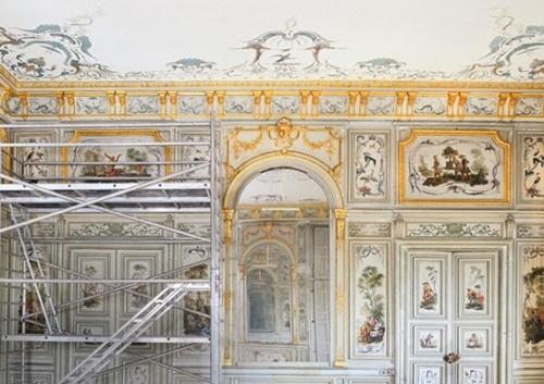 샹 시르마른 성의 천장 복원