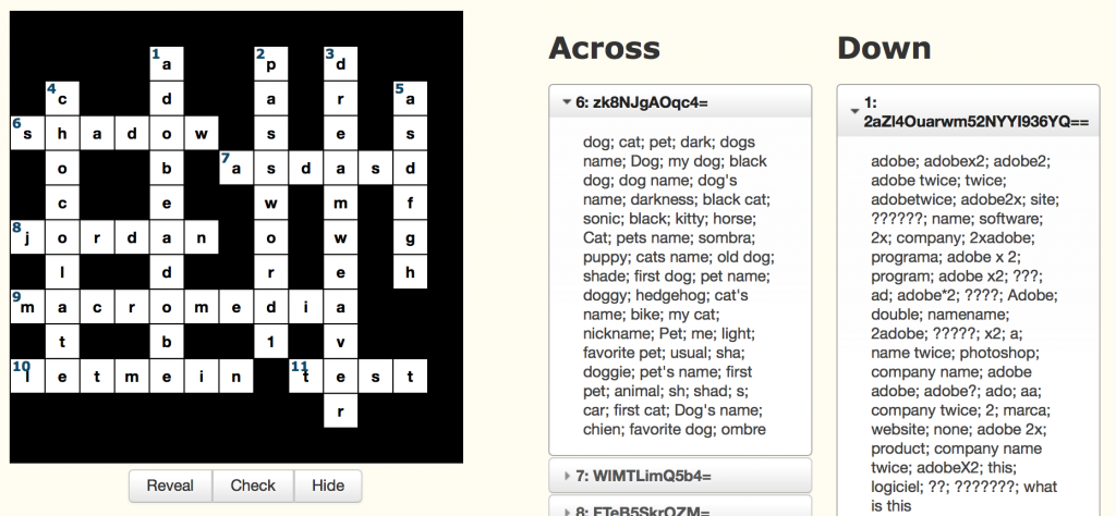 adobe crossword