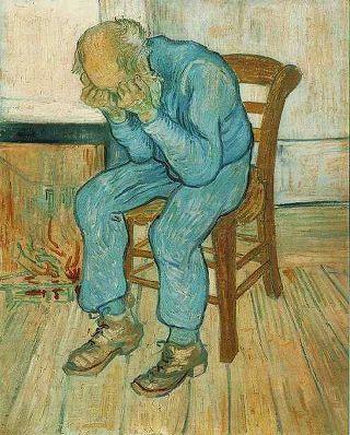 돈도 없고 제대로 사랑해주는 애인도 없고 한쪽 귀도 없어(..) (고흐, 울고 있는 노인)