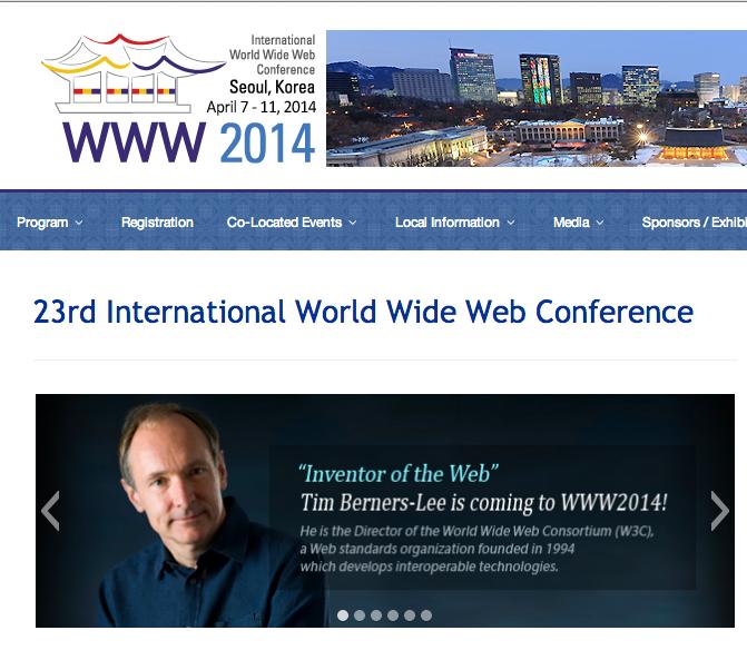 세계적 행사 WWW2014, 홈페이지에서 액티브엑스, 익스플로러 최적화 요구로 망신살