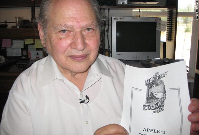 로널드 웨인과 그가 디자인했던 애플의 초창기 로고