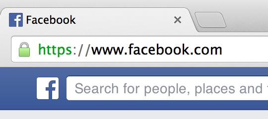 HTTPS가 적용된 Facebook.com