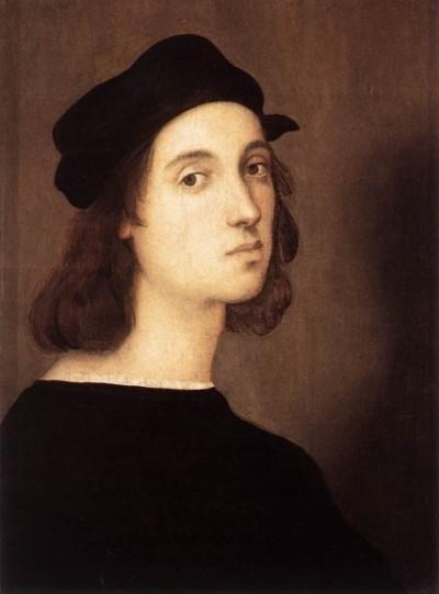 반반하게 생긴 라파엘로. 자화상도 젊다. 그는 조수들에게 작업을시키고 작품 창작와 주문 수주에 전념했다.