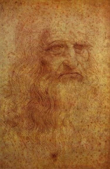 다빈치의 자화상. 말년까지 떠돌았던 그의 인생을 나타내는듯 하다.