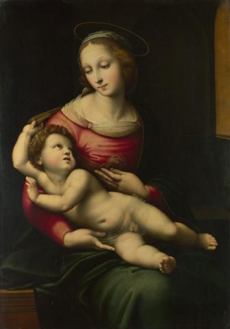 라파엘로의 '성모와 아기예수'. 그는 교황청의 넘치는 주문을 공방 제작을 통해 감당했다.