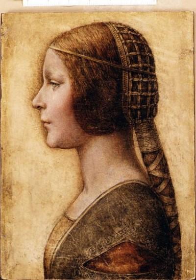 아름다운 왕녀. 다빈치의 작품으로 재평가되면서 가격은 8400배 뛰었다.