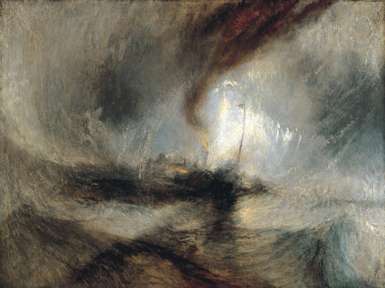 눈보라(J. M. W. 터너, 캔버스에 유화, 테이트 갤러리, 런던, 1812)
