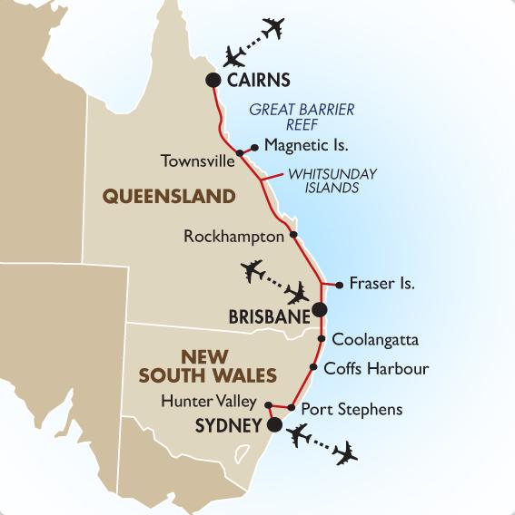 오스트레일리아 동쪽을 수영으로 횡단.