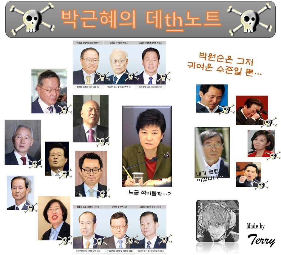 박근혜 데스노트
