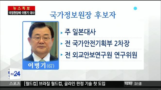 [논평] 국정원장 최고의 적임자, 이병기를 환영한다