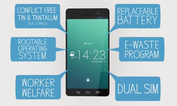 """윤리적으로 생산된 최초의 스마트폰 """"페어폰(Fairphone)"""""""