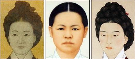▲ 왼쪽부터 신사임당(1504∼1551), 류관순(1902~1920) 열사, 허난설헌(1563∼1589)