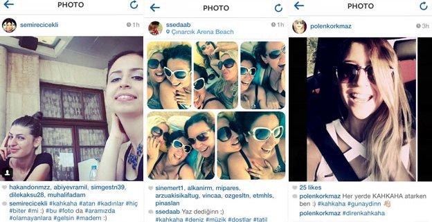터키의 여성들이 웃고 있다