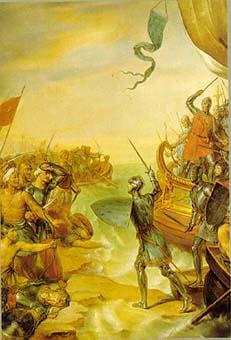 (이 그림은 이집트 다미에타에 상륙하는 루이 9세)