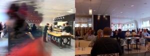 (학교 내에 있는 카페테리아의 모습입니다. 스웨덴 물가를 감안해도 음식 가격이 싼 편은 아니더군요. 맛은 있는 편이었습니다.)