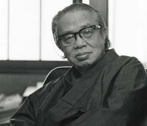 노년의 마쓰모토 세이초.