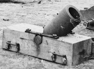 남북 전쟁에서 사용된 Coehoorn 타입의 구포