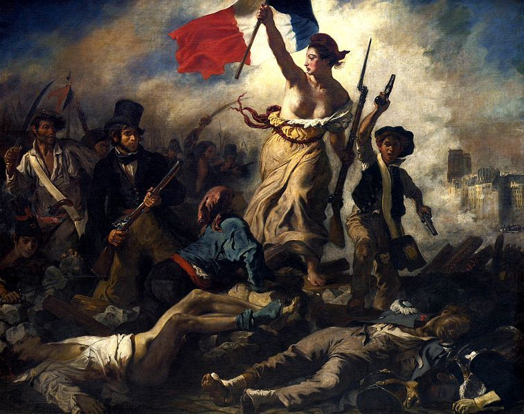 프랑스 공화국의 마리안느는 결코 청순가련형의 순종녀가 아닙니다. 자유와 평등을 침탈당할 때는 저렇게 총검을 손에 들고 민중을 이끄는 행동파입니다.