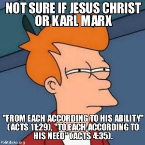 """예수님 말씀인지 마르크스의 말인지 잘 모르겠는데... """"각자의 능력에 따라 걷어"""" 사도행전 11장 29절 """"각자의 필요에 따라 나누어"""" 사도행전 4장 35절"""