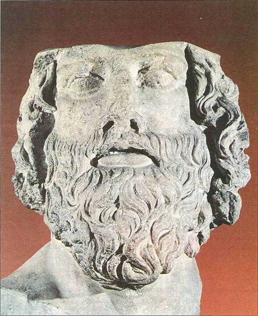 30년 묵은 전쟁을 끝낸 스파르타의 명장이자 정치가인 리산드로스의 두상입니다.