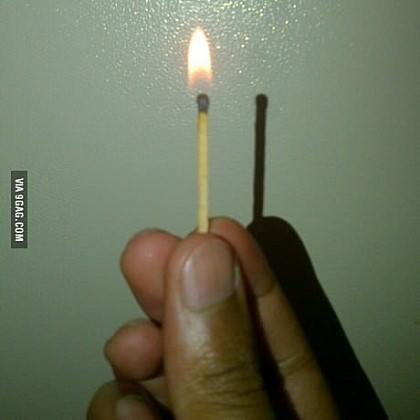 불은 왜 그림자가 없을까?