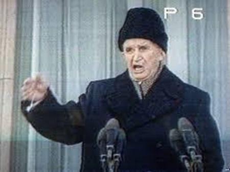 (독재자 최후의 장광설. 1989년 12월 21일의 모습입니다.)