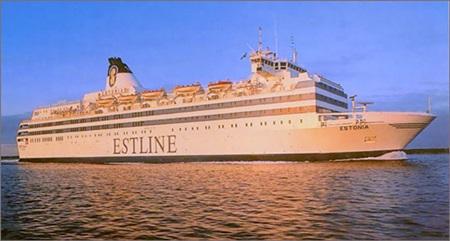 ▲ 1994년 9월 28일 발트 해역에서 침몰한 카페리 에스토니아 호. ⓒ